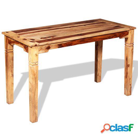 Mesa de comedor de madera maciza de sheesham 120x60x76 cm