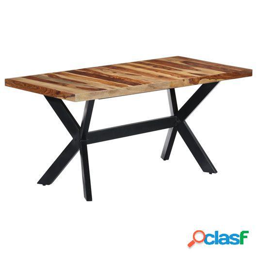 Mesa de comedor de madera maciza de sheesham 160x80x75 cm