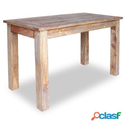 Mesa de comedor de madera maciza reciclada 120x60x77 cm