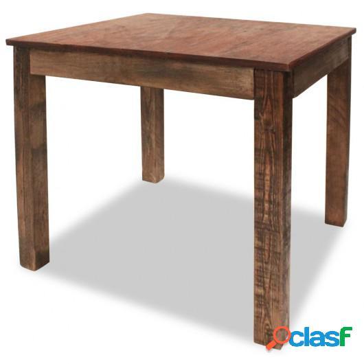 Mesa de comedor de madera maciza reciclada 82x80x76 cm