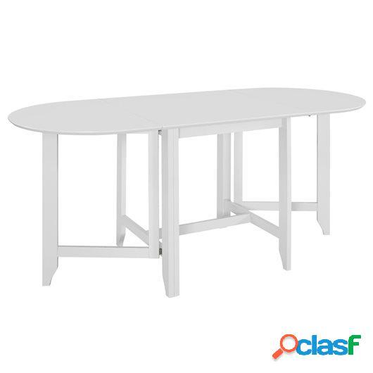 Mesa de comedor extensible blanca (75-180)x75x74 cm MDF