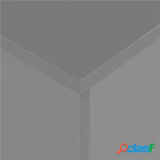 Mesa de comedor extensible gris brillante 175x90x75 cm