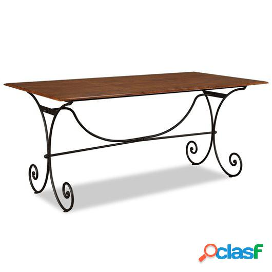 Mesa de comedor madera maciza acabado de sheesham 180x90x76