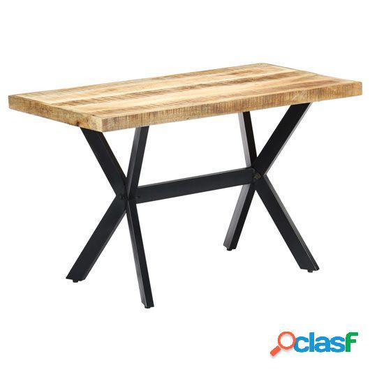 Mesa de comedor madera maciza de mango en bruto 120x60x75 cm