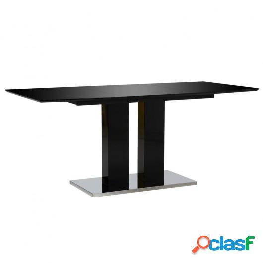 Mesa de comedor negro brillante 180x90x76 cm MDF