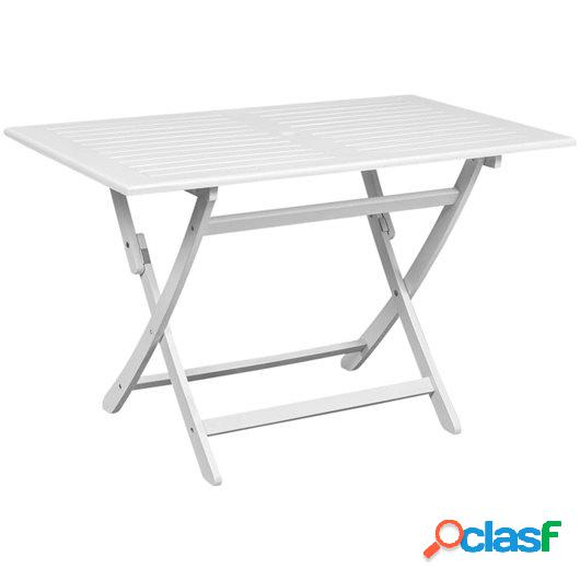 Mesa de comedor para jardín madera de acacia blanca