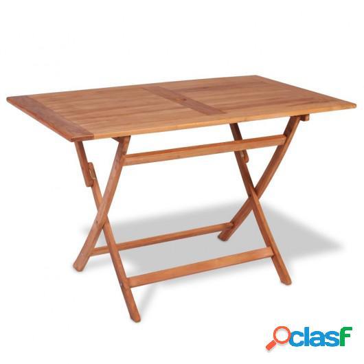 Mesa de comedor plegable para jardín de teca 120x70x75 cm