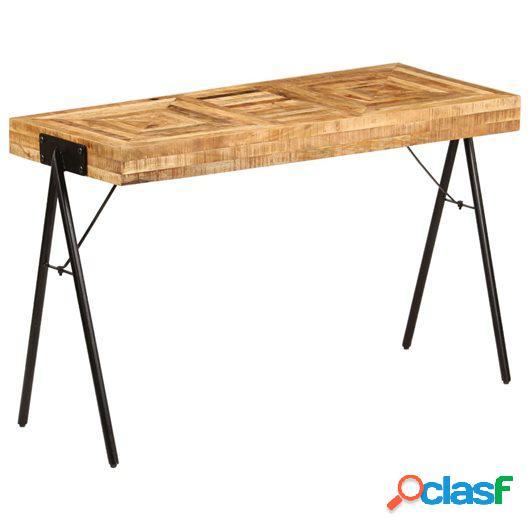 Mesa de escritorio de madera maciza de mango 118x50x75 cm