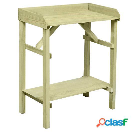 Mesa de jardinera madera de pino impregnada FSC 75x40x90 cm