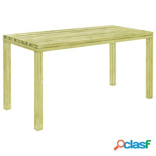 Mesa de jardín 150x75,5x77 cm madera de pino impregnada FSC