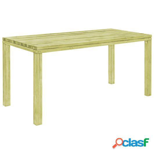 Mesa de jardín 170x75,5x77 cm madera de pino impregnada FSC