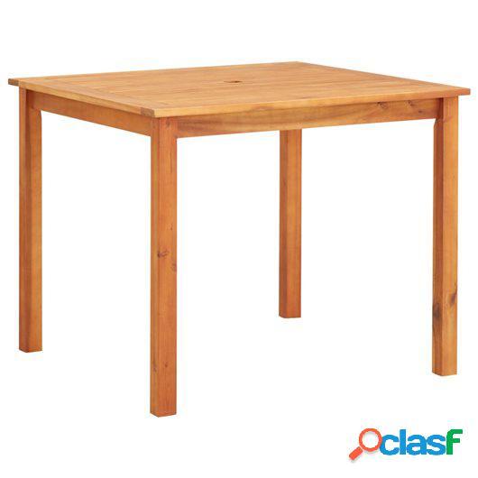 Mesa de jardín madera maciza de acacia 90x90x74 cm