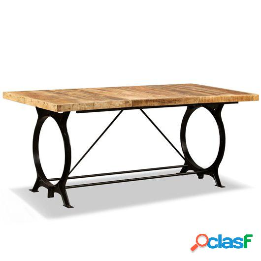 Mesa de salón comedor de madera maciza de mango rugosa 180