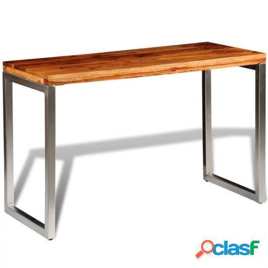 Mesa de salón o escritorio madera sheesham con patas de