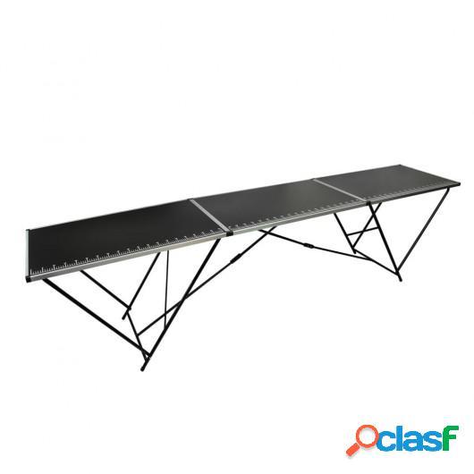 Mesa para empapelar plegable de MDF y aluminio 300x60x78 cm