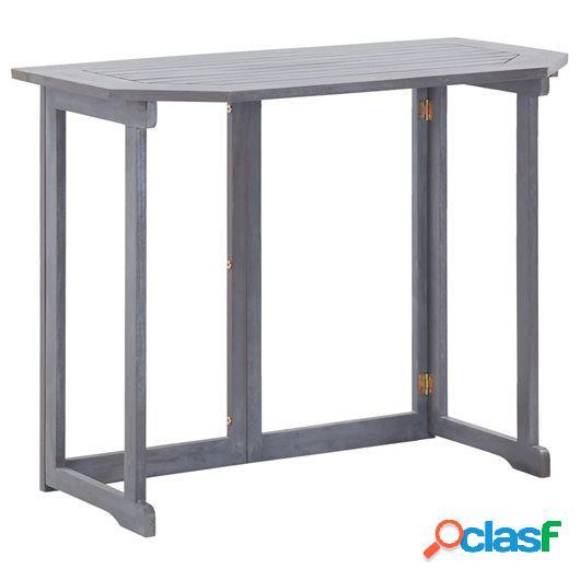 Mesa plegable de balcón madera de acacia maciza 120x70x74