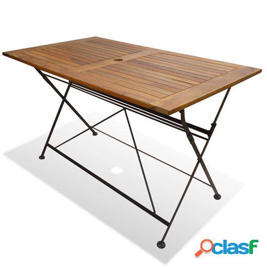 Mesa plegable de jardín de madera de acacia 120x70x74 cm
