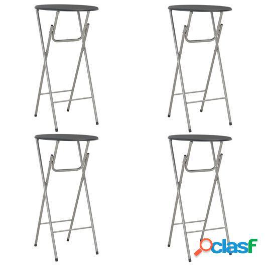 Mesas altas de cocina 4 unidades MDF negro 60x112 cm