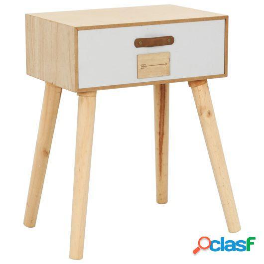 Mesita de noche con cajón madera pino maciza 44x30x58,5 cm