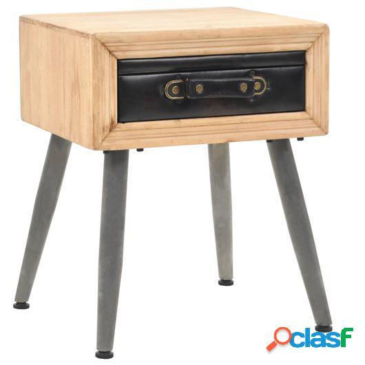 Mesita de noche de madera maciza de abeto 43x38x50 cm