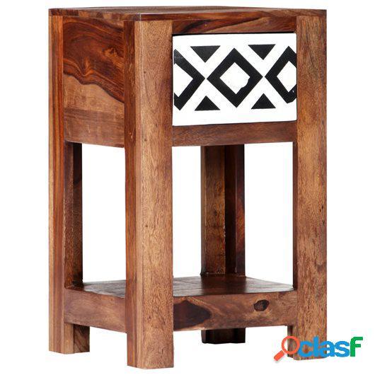 Mesita de noche de madera maciza de sheesham 30x30x50 cm