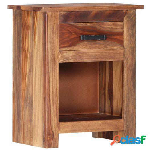 Mesita de noche de madera maciza de sheesham 40x30x50 cm