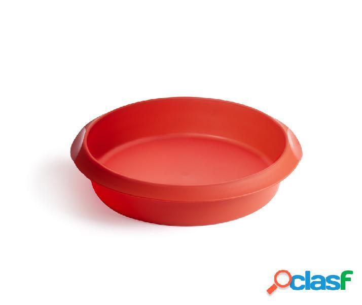 Molde Pastel Silicona Rojo 26cm Lékué