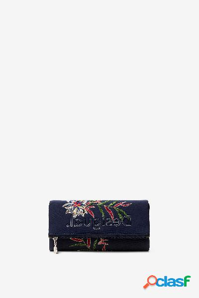 Monedero billetero flor hawaiana - BLUE - U
