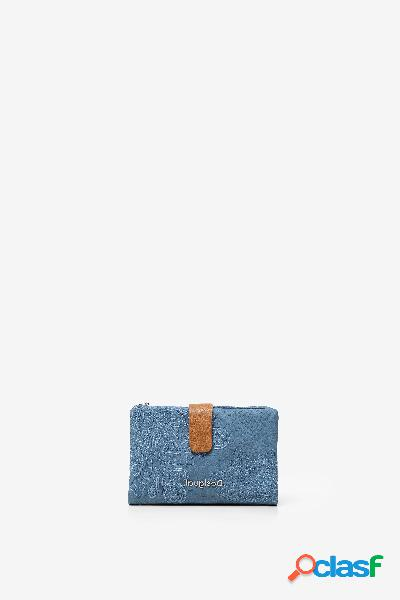 Monedero efecto piel de reptil con mandalas - BLUE - U
