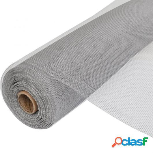 Mosquitera de Aluminio plateada 150 x 1000 cm