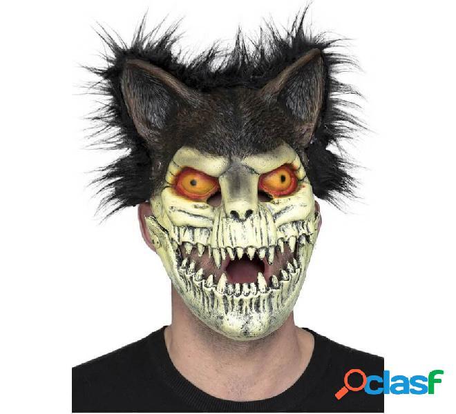 Máscara de Esqueleto de Gato con Orejas