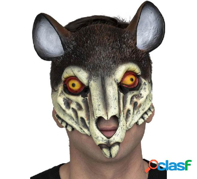 Máscara de Esqueleto de Ratón con Orejas