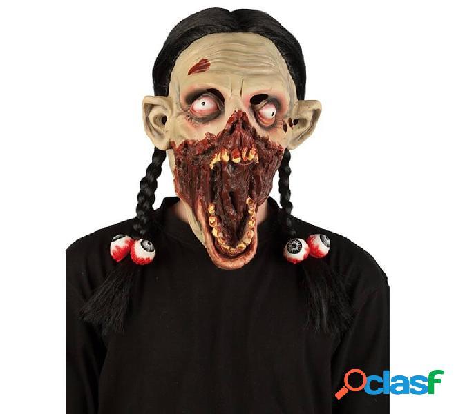 Máscara de Zombi con coletas