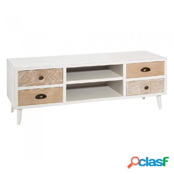 Mueble De Tv Blanco Natural 118.00 X 38.00 47.00