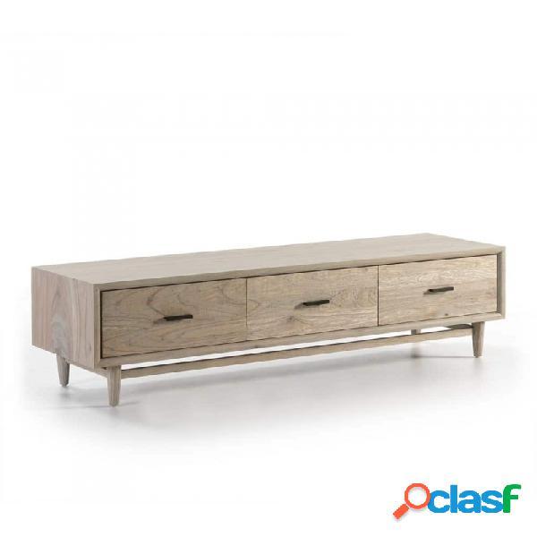 Mueble De Tv Gris Madera 160x45x45