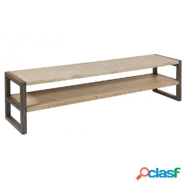 Mueble De Tv Natural Madera Y Acacia 175 X 42 50