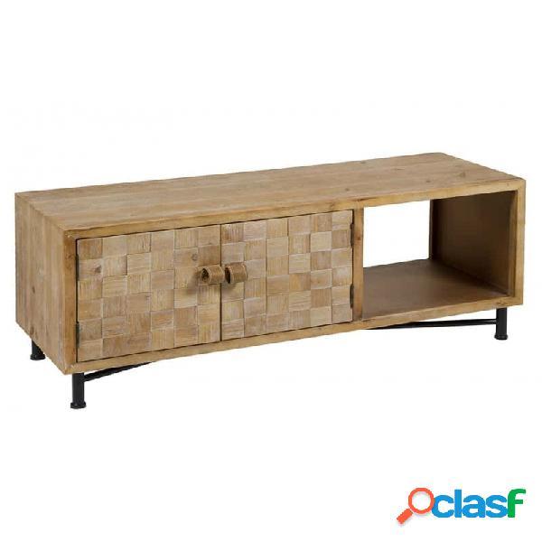 Mueble De Tv Natural Mdf 110 X 38 45
