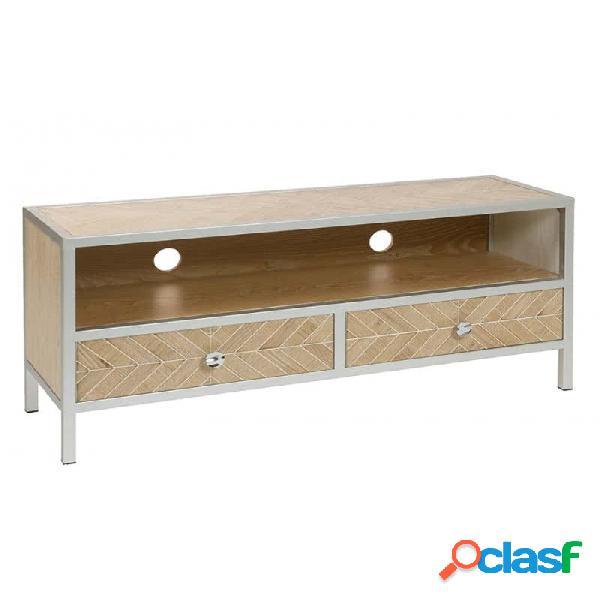 Mueble De Tv Natural Mdf Moderno 120 X 35 55