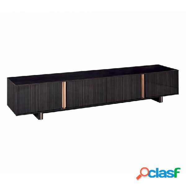 Mueble De Tv Negro Oro Industrial 220 X 45 50,50