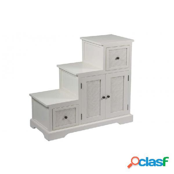 Mueble Escalera Blanco Moderno 88 X 37 90
