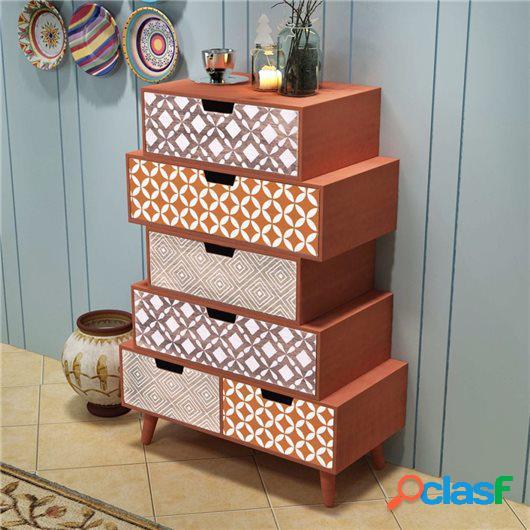 Mueble auxiliar con 6 cajones marrón