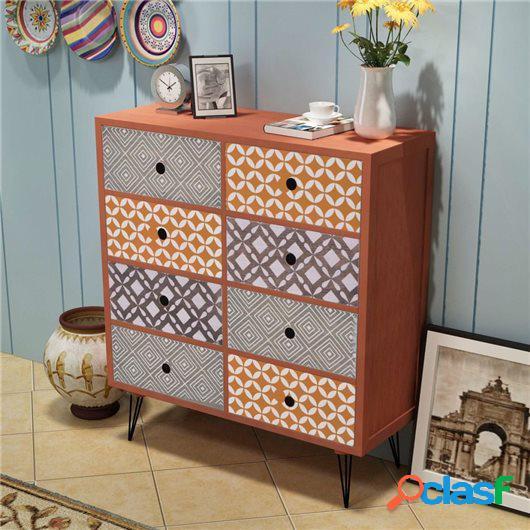 Mueble auxiliar con 8 cajones marrón