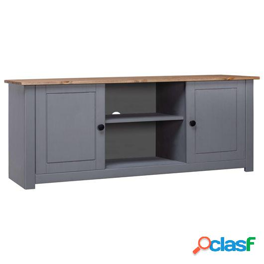 Mueble de TV madera maciza pino estilo Panamá gris