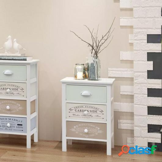 Mueble de almacenaje estilo francés 3 cajones de madera