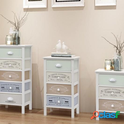 Mueble de almacenaje estilo francés 4 cajones de madera