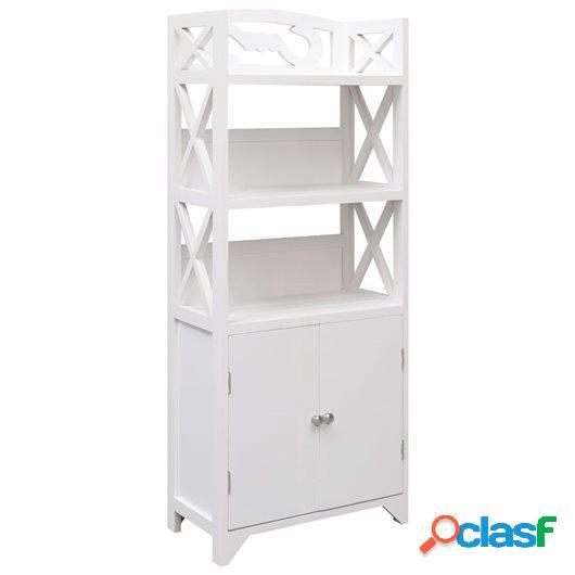 Mueble de cuarto de baño madera Paulownia blanco 46x24x116