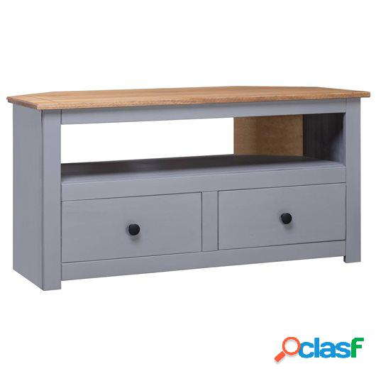 Mueble esquinero TV madera pino estilo Panamá gris 93x55x49