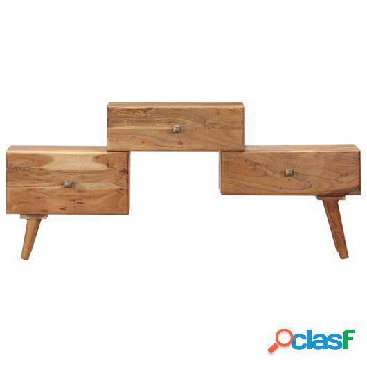 Mueble para TV 108x30x49 cm madera maciza de acacia