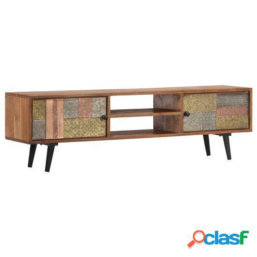 Mueble para TV 140x30x40 cm madera maciza de acacia