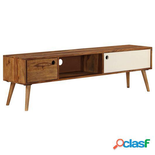 Mueble para TV 140x50x35 cm madera maciza de sheesham